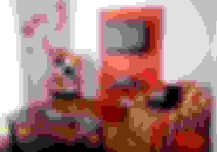 Sala Departamento Gusi: Salas de estilo  por Sandra Molina