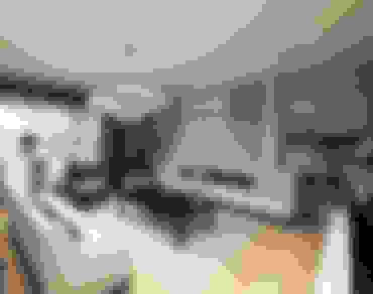 غرفة المعيشة تنفيذ Meral Akçay Konsept ve Mimarlık