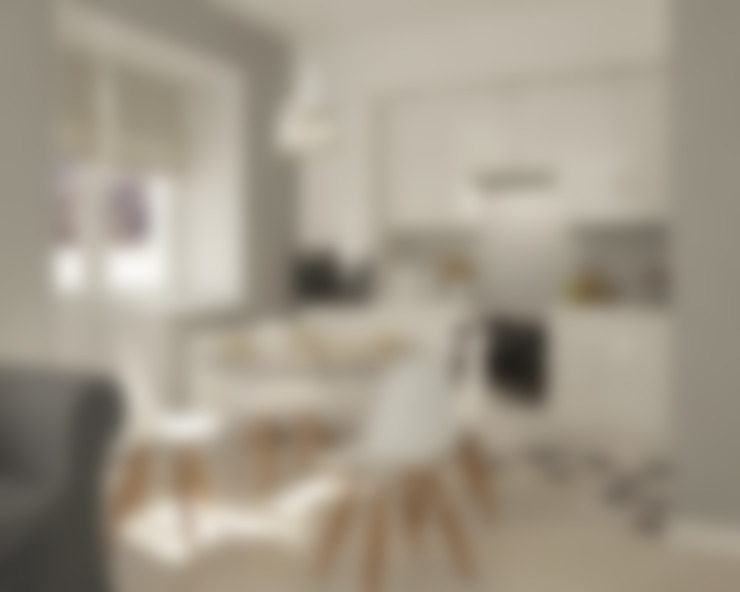 Нюансы белого: Кухни в . Автор – CO:interior