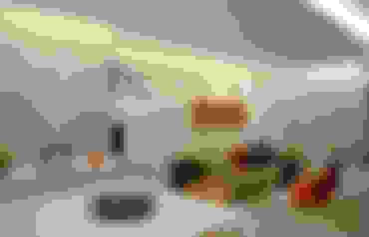 Integração Sala de Estar e Jantar: Salas de estar  por fpr Studio