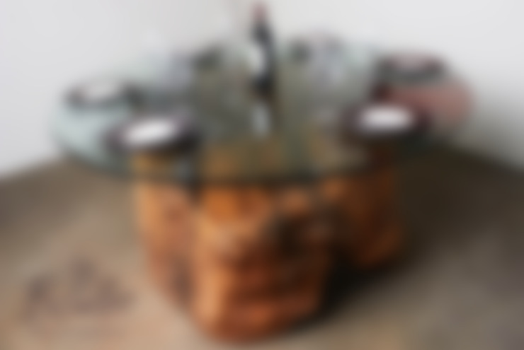Mesa de tronco ocado: Casa  por Boulle