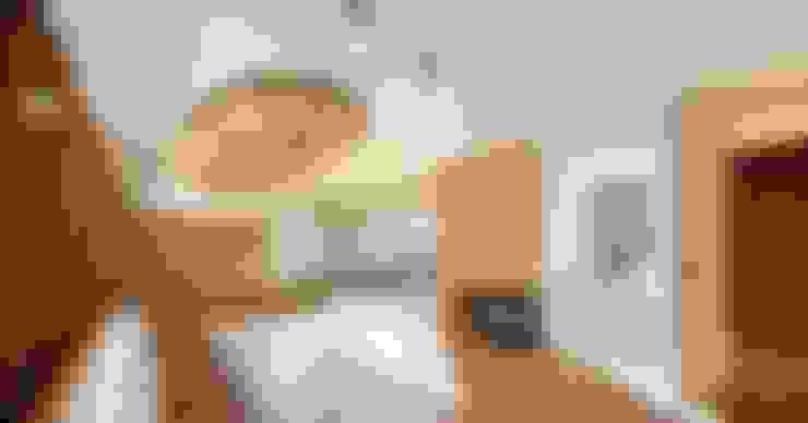 Salas / recibidores de estilo  por 제이에이치와이 건축사사무소