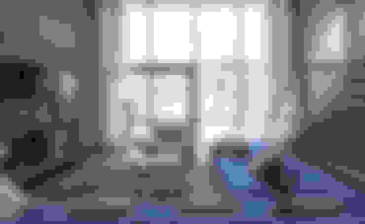 ДОМ В ПОСЕЛКЕ ПОЛИВАНОВО: Гостиная в . Автор – ALEXANDER ZHIDKOV ARCHITECT