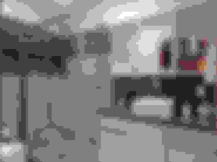 BANHO AB – Higienópolis / Porto Alegre: Banheiros  por Ambientta Arquitetura