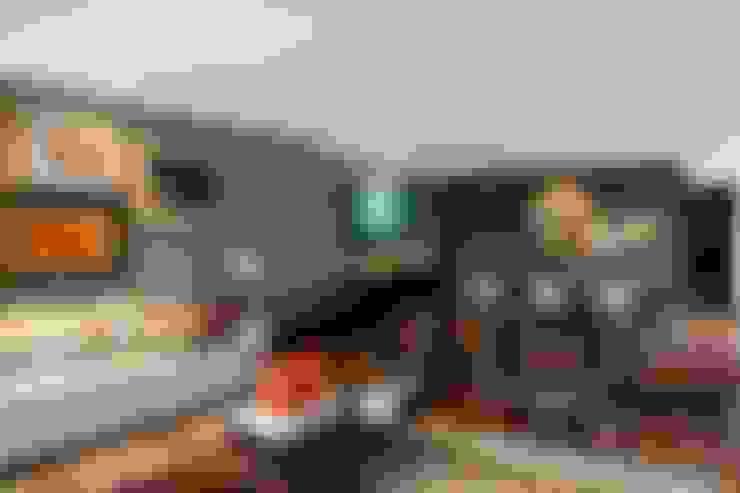 Projeto Casa Moderna - Jorge Elmor: Salas de estar  por Elmor Arquitetura