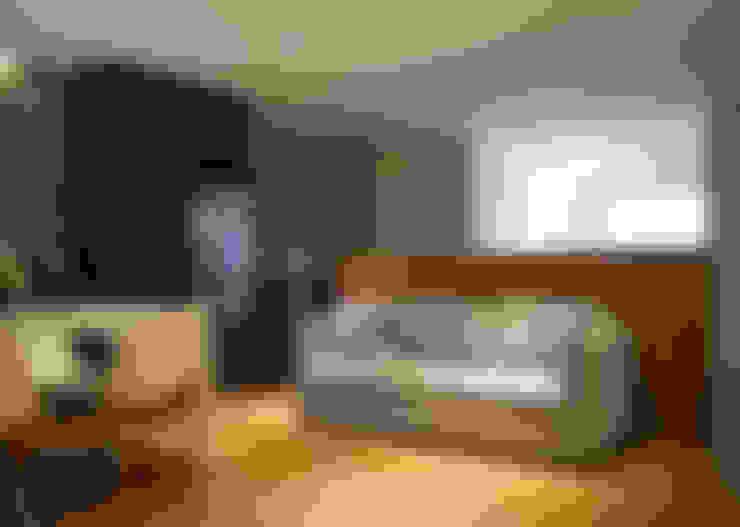 Apartamento HLC: Salas de estar  por Boa Arquitetura