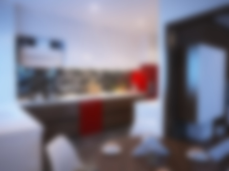 İNDEKSA Mimarlık İç Mimarlık İnşaat Taahüt Ltd.Şti. – İNDEKSA ÖRNEK DAİRE ÇALIŞMASI:  tarz Mutfak