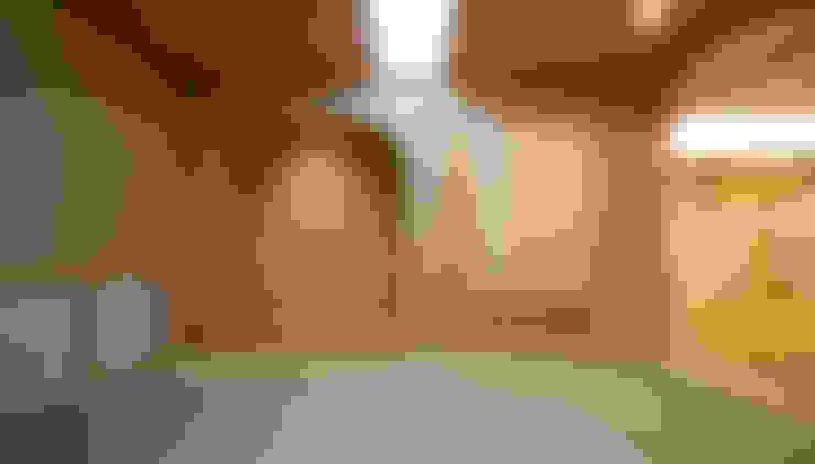 Livings de estilo  por 吉田設計+アトリエアジュール