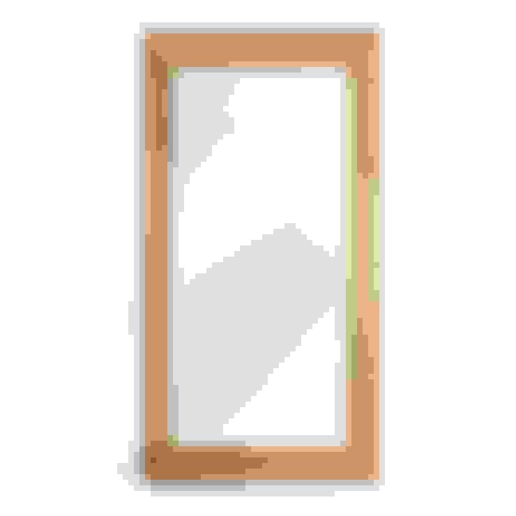 Bonsoni Wallsend Reclaimed Oak Wall Mirror - Hand Built Furniture Using High-Grade Oak:  Bathroom by Bonsoni.com