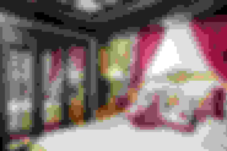Интерьер загородного дома в стиле Эклектика: Спальни в . Автор – Belimov-Gushchin Andrey