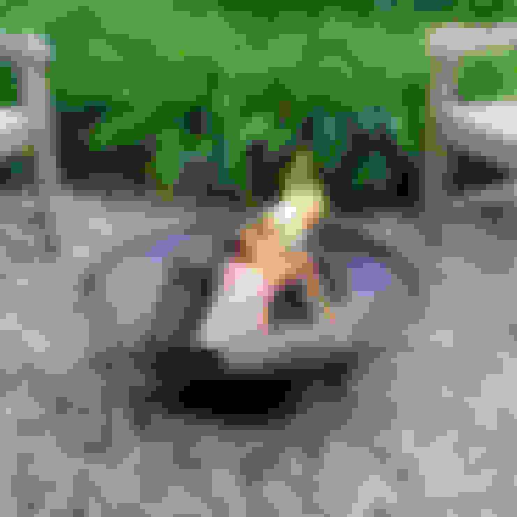 Meda Home – XL Bahçe Şöminesi:  tarz Bahçe