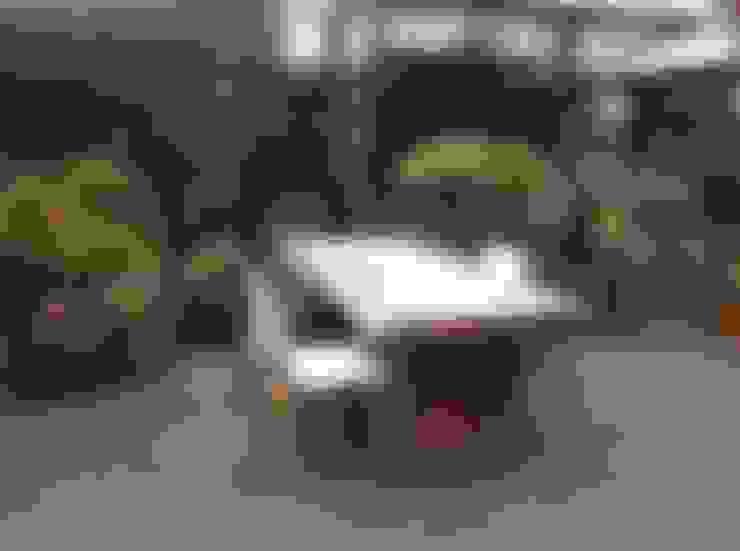 Boomstam tafel van suar of mehwood :  Tuin door Ars Longa