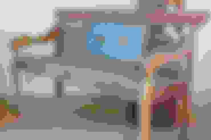 Tuinbank gemaakt van gerecycled teakhout :  Tuin door Ars Longa