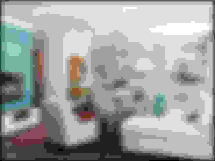 Проект совмещенного помещения столовая,кухня гостиная. Частная квартира Екатеринбург : Гостиная в . Автор – Частный дизайнер и декоратор Девятайкина Софья