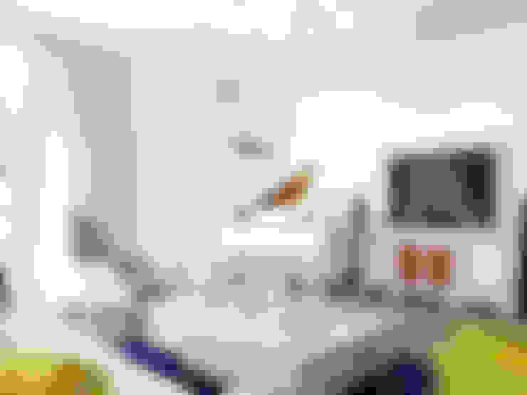 """Квартира в ЖК """"Парадный квартал"""": Гостиная в . Автор – Студия дизайна интерьера Маши Марченко"""