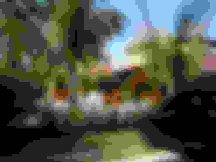 Fachada da casa de veraneio: Casas  por Metamorfose Arquitetura e Urbanismo
