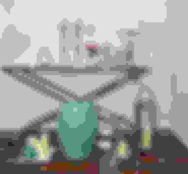 KONSOLA ŁAWA srebrna szklana stal nierdzewna CRISS CROSS : styl , w kategorii Salon zaprojektowany przez PRIMAVERA HOME