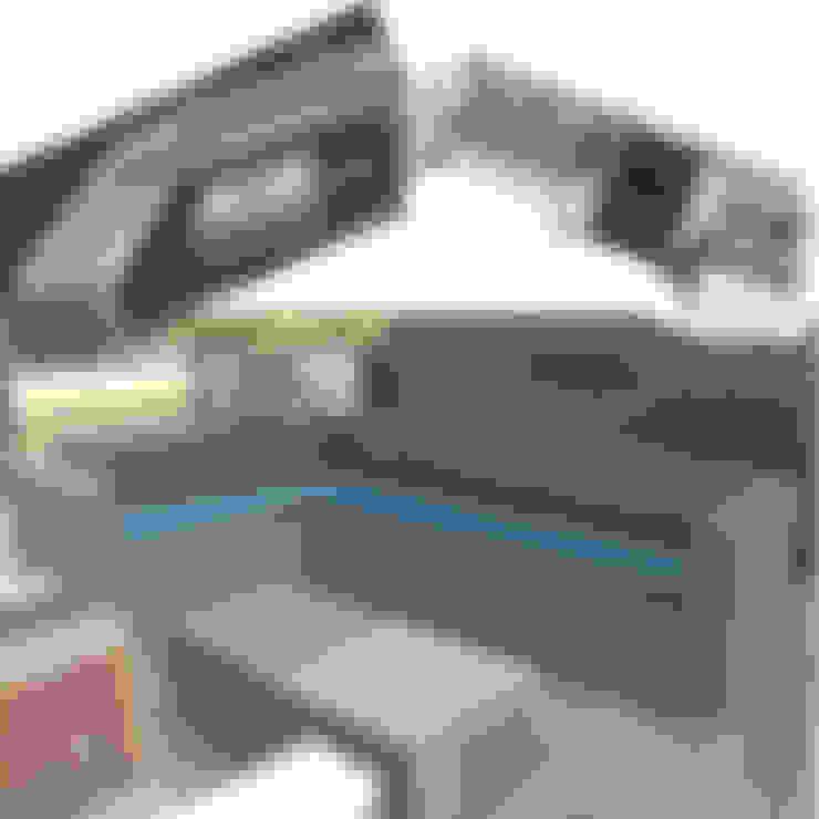 Hoekbank Koen, lounchbank fridge en hoekbank Noud:  Tuin door Trendy met Hout