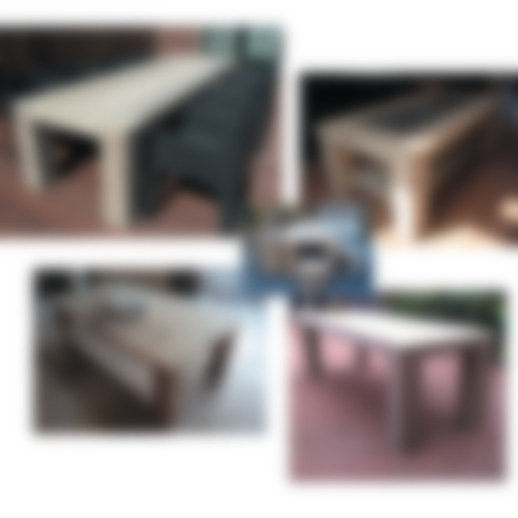 Steigerhouten tafels:  Tuin door Trendy met Hout