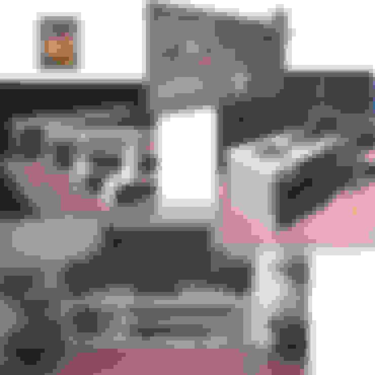 Diverse mogelijkheden:  Woonkamer door Trendy met Hout