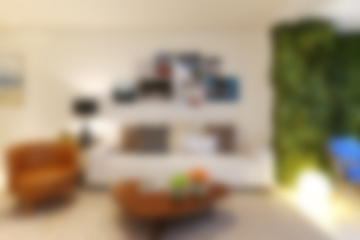Apartamento M|R: Salas de estar  por Now Arquitetura e Interiores