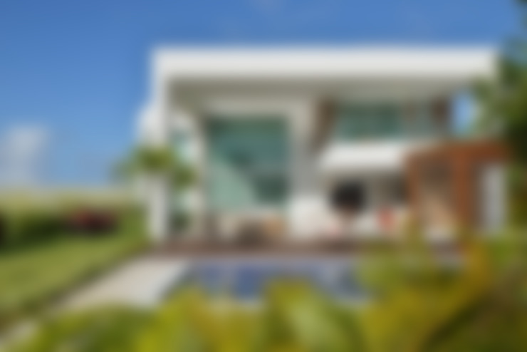 Fachada frontal: Casas  por Pinheiro Martinez Arquitetura