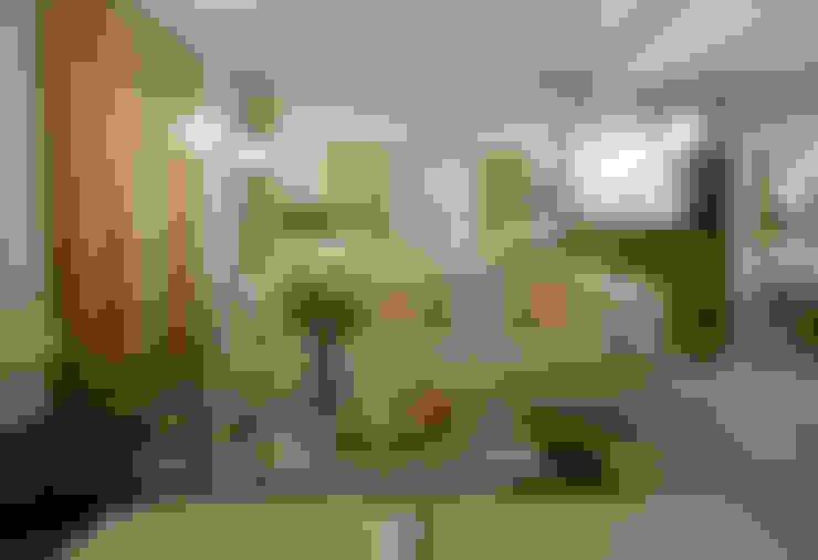 Suíte Neoluxo: Salas de estar  por Johnny Thomsen Arquitetura e Design