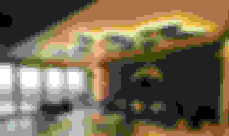 غرفة المعيشة تنفيذ Orkun İndere Interiors