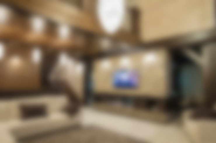 Living room by Дизайн-студия 'Батенькофф'