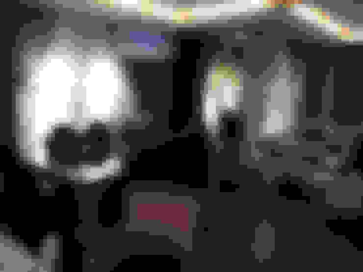 غرفة المعيشة تنفيذ HEBART MİMARLIK DEKORASYON HZMT.LTD.ŞTİ.