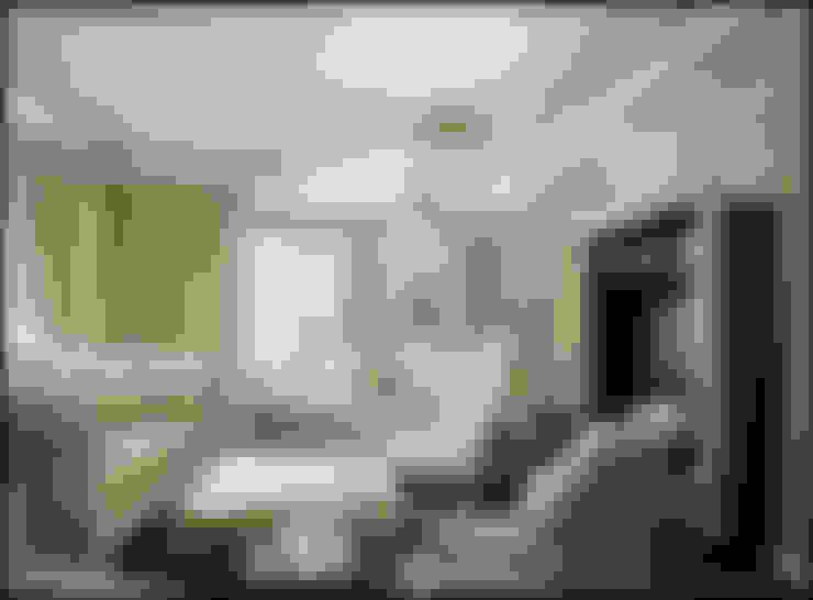 Дизайн бежевой гостиной, фото интерьера: Гостиная в . Автор – Бюро домашних интерьеров