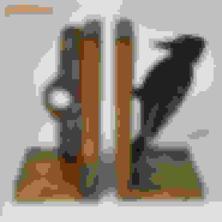 Gökmen Ahşap Oyuncak ve Tasarım – Ahşap Kitap Dayanakları / Wooden Bookends:  tarz Oturma Odası