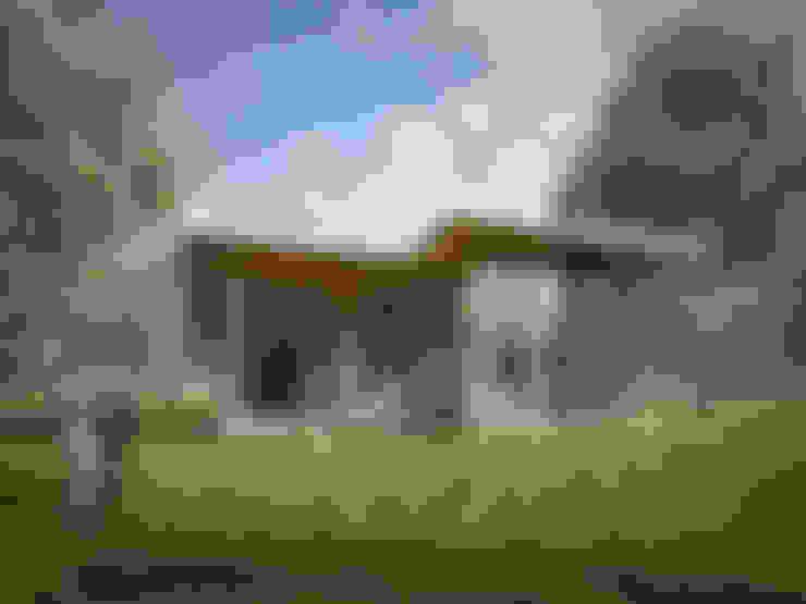 Верея 100: Tерраса в . Автор – NEWOOD - Современные деревянные дома