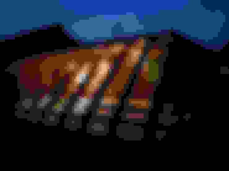 夜の外観|mat house: KAZ建築研究室が手掛けた家です。