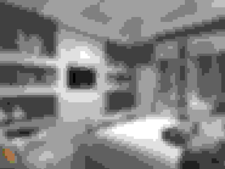 غرفة نوم تنفيذ Лаборатория дизайна 'КУБ'