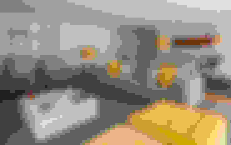 غرفة المعيشة تنفيذ Filipa Cunha Interiores