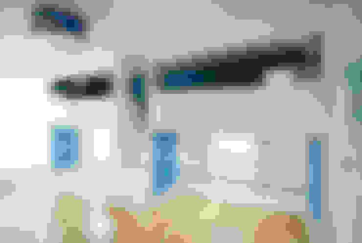 두아이를 위한 특별한 트윈벙커 다락방 인테리어 : 퍼스트애비뉴의  아이방