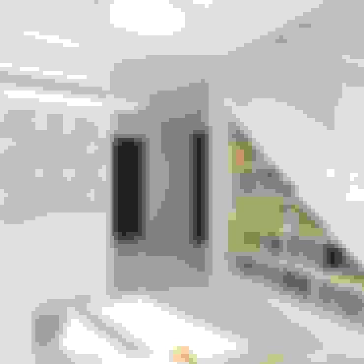 Couloir et hall d'entrée de style  par Design Rules