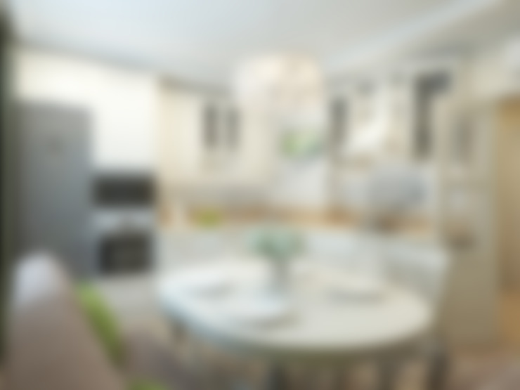 Дизайн интерьера квартиры площадью в г.Мытищи, 100 кв.м. : Кухни в . Автор – variatika