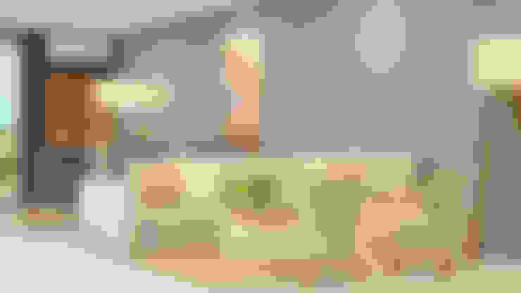Salas / recibidores de estilo  por CONTRASTE INTERIOR