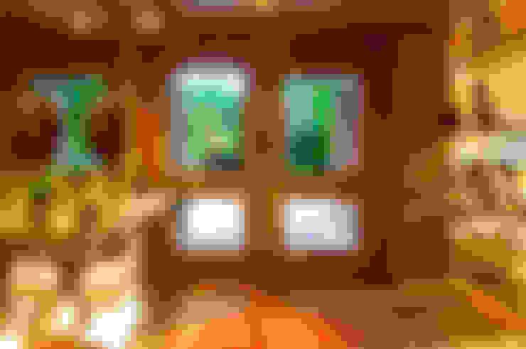INTERIORES: Pasillos y recibidores de estilo  por JUNOR ARQUITECTOS