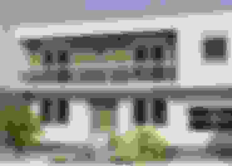 Projeto da fachada - Moradaverde arquitetura: Casas  por Moradaverde Arquitetura