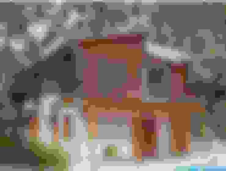 Fachada rústica: Casas  por Moradaverde Arquitetura