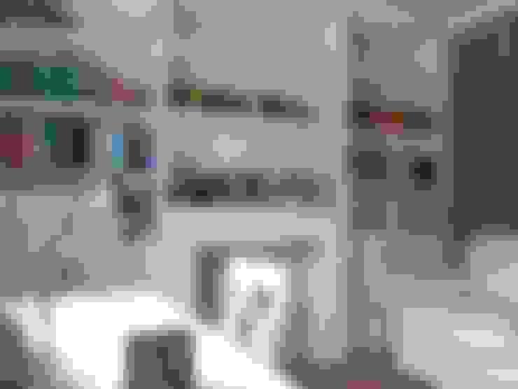 Estudios y despachos de estilo  por Grzegorz Popiołek Projektowanie Wnętrz