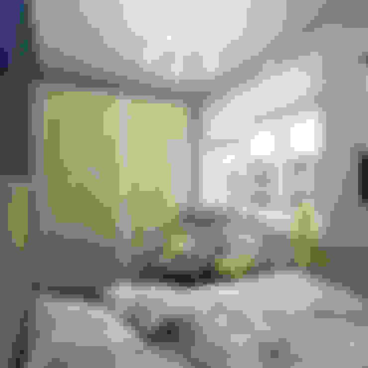 Dormitorios pequeños de estilo  de Студия дизайна Марии Губиной