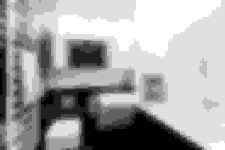mieszkanie prywatne 3 pokoje czarno-białe - apartamenty na polanie - Gdynia : styl , w kategorii Łazienka zaprojektowany przez Anna Maria Sokołowska Architektura Wnętrz