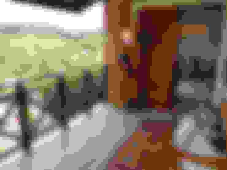 Varanda: Terraços  por Eveline Sampaio Arquiteta e Designer de Interiores