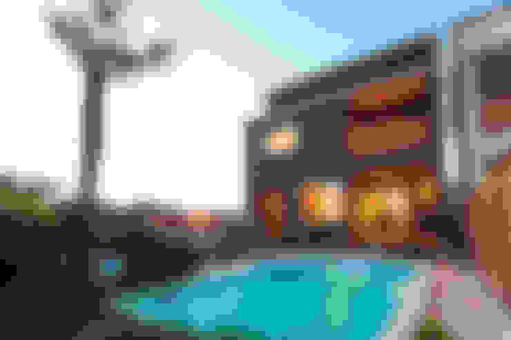 プールのある家 シーン001: PROSPERDESIGN ARCHITECT OFFICE/プロスパーデザインが手掛けたプールです。