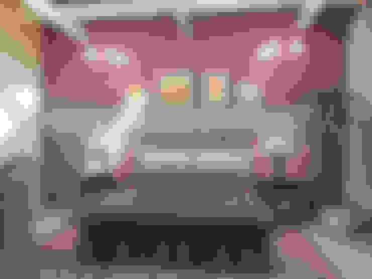 Дом из бруса 1: Спальни в . Автор – Студия Архитектуры и Дизайна Алисы Бароновой