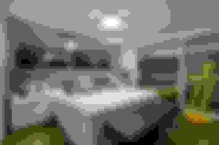 Apartamento EL: Quartos  por Tamara Rodriguez Aquitetura